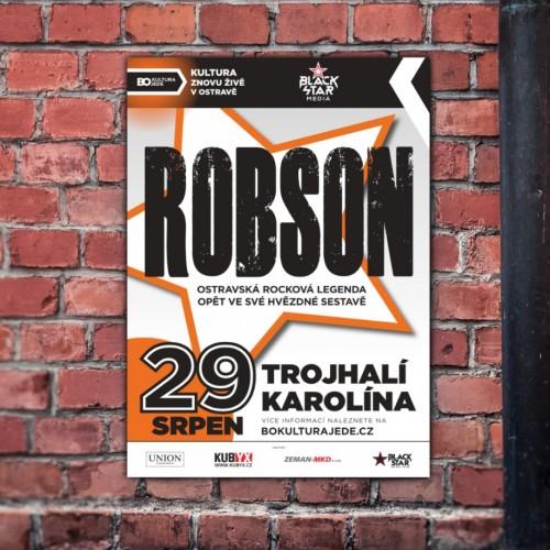Originální grafický design pro speciální ostravský koncert legendární rockové kapely Robson