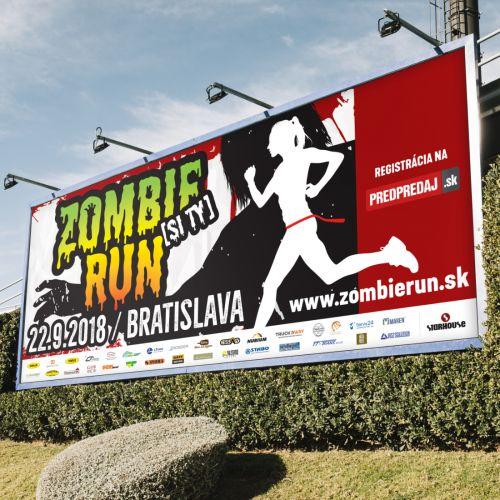 Grafické zpracování nového vizuálu populárního běhu Zombie [si ty] Run v Bratislavě