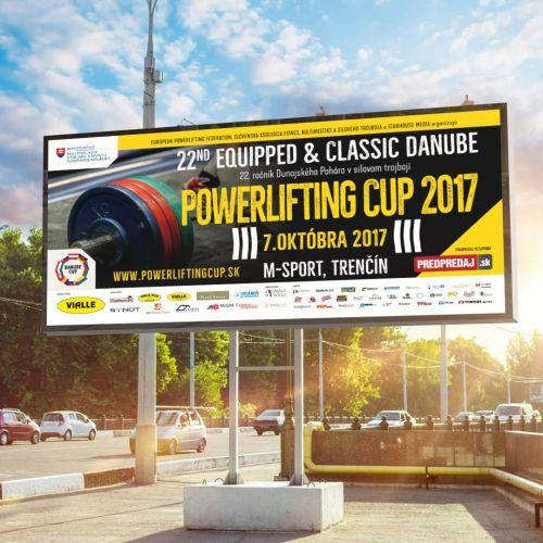 Grafický design vizuálu soutěže Powerlifting cup 2017 konané v Trenčíně