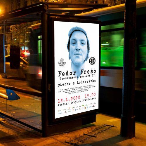 Grafické zpracování propagačních materiálů pro vzpomínkový koncert konaný v Bratislavě