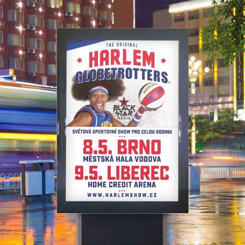 Grafické zpracování citylight Harlem Globetrotters Česká republika