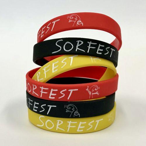 Nový merchandising pro SORF - silikonové náramky