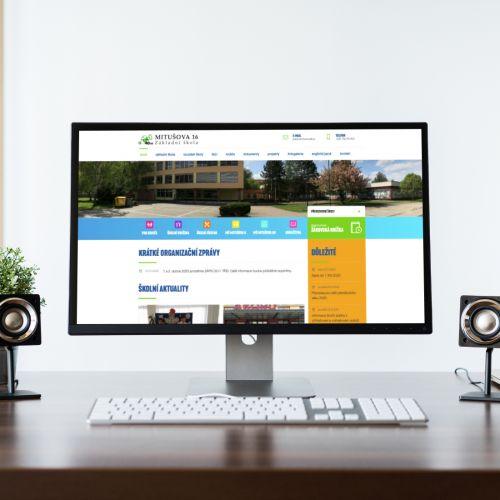 Nové webové stránky pro ostravskou základní školu Mitušova 16