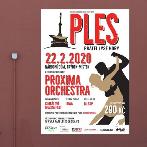 Tisk propagačních plakátů pro Ples přátel Lysé hory