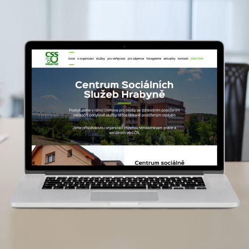 Výroba nových propagačních webových stránek pro Centrum Sociálních Služeb Hrabyně